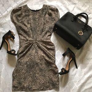 Guess snakeskin print dress